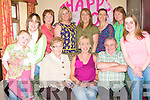BIRTHDAY GIRL: Ellen Keely Roche, Woodbrook Manor, Monavalley, Tralee enjoying a great time celebrating her 40th birthday with a champagne lunch with family and friends at Nancy Myles bar Tralee on Monday seated l-r: Erin Keely, Kim Kerins, Maureen Roche, Ellen Keely Roche, David Roche and Tracie Kerins. Back l-r: Audrey Moran, Nuala Carey, Mary Roche, Catherine Irwin and Brigitte Dowling.
