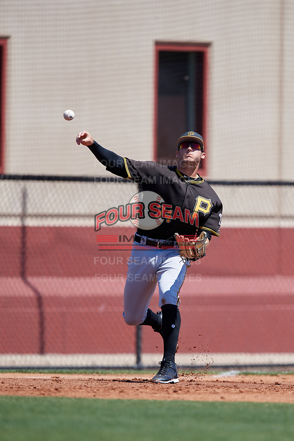 Pittsburgh Pirates Dylan Busby (34) during a Minor League Spring Training game against the Philadelphia Phillies on March 23, 2018 at the Carpenter Complex in Clearwater, Florida.  (Mike Janes/Four Seam Images)