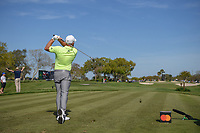 Tyrrell Hatton (ENG) watches his tee shot on 7 during round 2 of the Arnold Palmer Invitational at Bay Hill Golf Club, Bay Hill, Florida. 3/8/2019.<br /> Picture: Golffile | Ken Murray<br /> <br /> <br /> All photo usage must carry mandatory copyright credit (&copy; Golffile | Ken Murray)