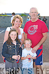 At Costal Rock on Saturday  are Brendan and Mary Keane from Listowel with children Aisling and Danny.