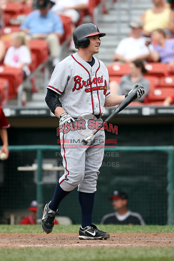 July 20th 2008:  Jason Perry of the Richmond Braves, Class-AAA affiliate of the Atlanta Braves, during a game at Dunn Tire Park in Buffalo, NY.  Photo by:  Mike Janes/Four Seam Images