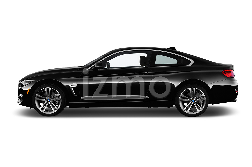 Car driver side profile view of a 2018 BMW 4 Series 430i 2 Door Coupe