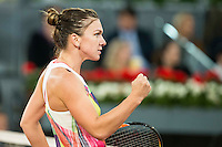 Romanian Simona Halep during WTA Final Mutua Madrid Open Tennis 2016 in Madrid, May 07, 2016. (ALTERPHOTOS/BorjaB.Hojas) /NortePhoto.com