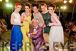 Special guest and host of the show Noel Cunnighan with L-R Sharon O'Keeffe (model), Aoife Begley (model), Norma O'Donoghue (Norma O'Donoghue Model Agency), Elaine Howard (model) and Sarah Jane Taylor (model)  at the Cairde an Leigiun Designer Fashion Event at The Malton Hotel, Killarney last Friday night.