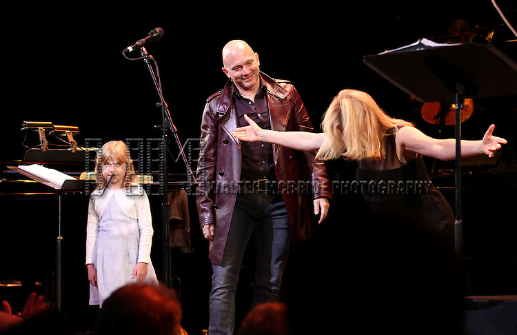 Brooklyn Shuck, Michael Cerveris and Vonda Shepard during the Curtain Call for the New York City Center Encores! Off-Center production of 'Randy Newman's FAUST' - The Concert at City Center on July 1, 2014 in New York City.