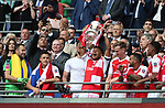 Alex Oxlade-Chamberlain of Arsenal lifts the FA cup during the Emirates FA Cup Final match at Wembley Stadium, London. Picture date: May 27th, 2017.Picture credit should read: David Klein/Sportimage