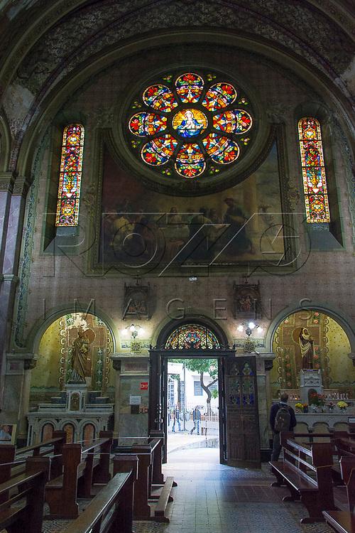 Interior da Paróquia Nossa Senhora da Conceição ou Igreja da Santa Ifigênia, São Paulo - SP, 07/2016.