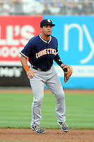 Connecticut Tigers infielder Devon Travis (22) during game against the Brooklyn Cyclones at MCU Park on August 03, 2012 in Brooklyn, NY.  Brooklyn defeated Connecticut 3-0.  Tomasso DeRosa/Four Seam Images