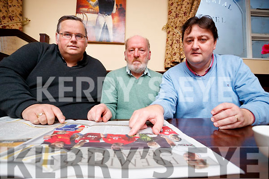 Kerry's Eye sports writers judging the Premier League 11 Competition, From Left: Padraig Hartnett, Christy Leahy and Sylvester Hennessy.
