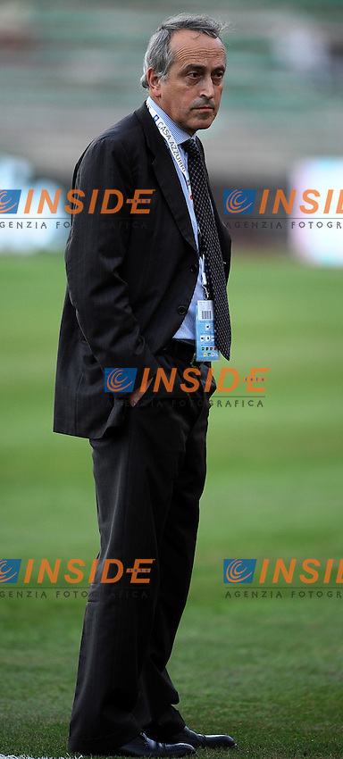"Giancarlo ABETE Presidente FIGC.BAri 10/8/2011 Stadio ""San Nicola"".Football / Calcio Friendly Match.Italia Vs Spagna / Italy Vs Spain.Foto Insidefoto Andrea Staccioli"