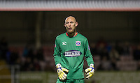 Goalkeeper Mark Cousins of Dagenham & redbridge during the Sky Bet League 2 match between Dagenham and Redbridge and Wycombe Wanderers at the London Borough of Barking and Dagenham Stadium, London, England on 9 February 2016. Photo by Andy Rowland.
