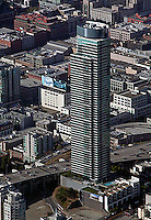 aerial photograph One Rincon Hill residential tower San Francisco