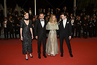 CANNES, FRANCE - MAY 17: Yann Gonazalez, Kate Moran, Vanessa Paradis, Nicolas Maury attends the screening of 'Knife + Heart (Un Couteau Dans Le Couer)' during the 71st annual Cannes Film Festival at Palais des Festivals on May 17, 2018 in Cannes, France. <br /> <br /> Picture: Kristina Afanasyeva/Featureflash/SilverHub 0208 004 5359 sales@silverhubmedia.com