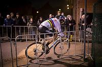 CX World Champion Wout Van Aert (BEL/Cibel-Cebon)<br /> <br /> men's race<br /> 44th Superprestige Diegem (BEL) 2018<br /> ©kramon