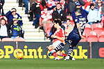 Alex Mowatt of Leeds scores the opening goal - Middlesbrough vs. Leeds United - Skybet Championship - Riverside Stadium - Middlesbrough - 21/02/2015 Pic Philip Oldham/Sportimage