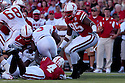 04 Sep 2010: Nebraska Cornhuskers defensive end Pierre Allen (95) comes in to assist in the tackle of Western Kentucky Hilltoppers running back Bobby Rainey (3) at Memorial Staduim in Lincoln, Nebraska. Nebraska defeated Western Kentucky 49 to 10.