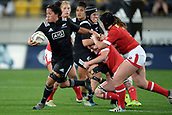 9th June 2017, Westpac Stadium, Wellington, New Zealand; International Womens Rugby; New Zealand versus Canada;  New Zealands Aroha Savage makes a break during the International Women's Series