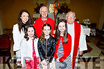 Ciara Griffin,Aoife Foley and Katie Keenan from Ballyfinane NS who were confirmed on Friday in St Gobnaits Church Boolteen,Keel,Castlemaine by Ray Browne Bishop of Kerry and with the pupils are Catherine o'Shea (principal0 and Fr Roache PP.