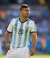 FUSSBALL WM 2014  VORRUNDE    GRUPPE F     Argentinien - Iran                         21.06.2014 Sergio Agueero (Argentinien)