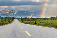 Rainbow over the Denali Park Road, Denali National Park, Alaska