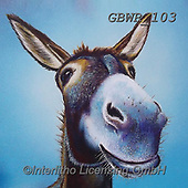 Simon, REALISTIC ANIMALS, REALISTISCHE TIERE, ANIMALES REALISTICOS, paintings+++++Card_AdamB_ASimpleSmile,GBWR103,#a#, EVERYDAY,donkey