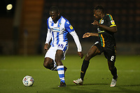 Frank Nouble of Colchester United and Omari Patrick of Yeovil Town during Colchester United vs Yeovil Town, Sky Bet EFL League 2 Football at the JobServe Community Stadium on 2nd October 2018