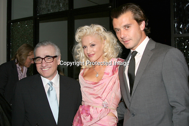 Martin Scorsese , Gwen Stefani &amp; Gavin Rossdale <br />**EXCLUSIVE**<br />Miramax Films Presents -&ldquo;The Aviator&rdquo; Post Premiere Party <br />Annex Restaurant<br />Hollywood, CA, USA<br />Wednesday, December 1, 2004<br />Photo By Selma Fonseca /Celebrityvibe.com/Photovibe.com, <br />New York, USA, Phone 212 410 <br />5354, email:sales@celebrityvibe.com