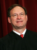 Washington, D.C. - March 3, 2006 -- Associate Justice Samuel Alito Jr., 55, poses for photos during a group portrait session, at the United States Supreme Court Building in Washington on March 3, 2006. Alito, the newest Justice, took his seat on January 31, 2006 after a contentious 58-42 Senate confirmation vote..Credit: Pool via CNP