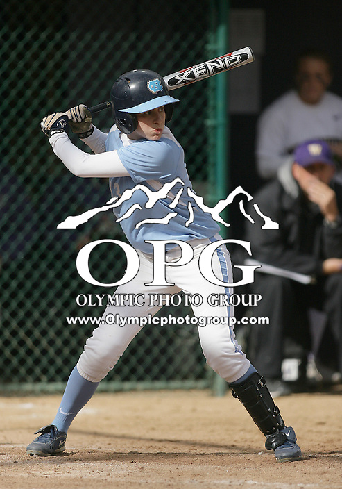 23 May 2010:   University of North Carolina center fielder #13 Anna Roberts sets up in the batters box against Washington. Washington defeated the University of North Carolina 2-1 in eight innings at Husky Softball Stadium in Seattle, WA to advance in the NCAA regional tournament.