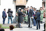 "King Felipe VI of Spain arrives to University of Alcala de Henares during award ceremony of literature in Spanish ""Miguel de Cervantes"" to in Madrid., April 20, 2017. Spain.<br /> (ALTERPHOTOS/BorjaB.Hojas)"
