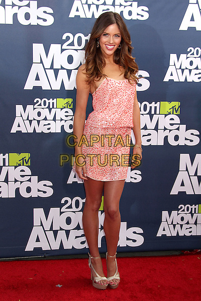 Kayla Ewell.2011 MTV Movie Awards - Arrivals held at Gibson Amphitheatre, Universal City, California, USA..June 5th, 2011.full length red pink print dress .CAP/ADM/RE.©Russ Elliot/AdMedia/Capital Pictures.
