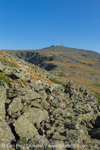 Mount Washington from the Appalachian Trail (Gulfside Trail)  in the White Mountains, New Hampshire.