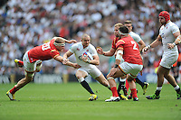 Mike Brown of England goes past James King of Wales during the Old Mutual Wealth Cup match between England and Wales at Twickenham Stadium on Sunday 29th May 2016 (Photo: Rob Munro/Stewart Communications)