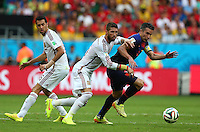 Robin Van Persie of Netherlands and Sergio Ramos of Spain in action