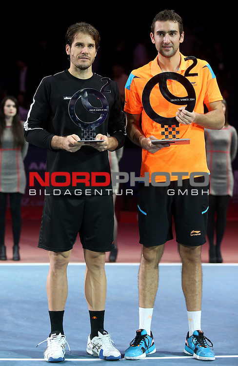 09.02.2014., Dom sportova, Zagreb - ATP PBZ Zagreb Indoors. Marin Cilic beats Tommy Haas from Germany and defends Zabreb Indoors title.<br /> <br /> Foto &copy;  nph / PIXSELL / Igor Kralj