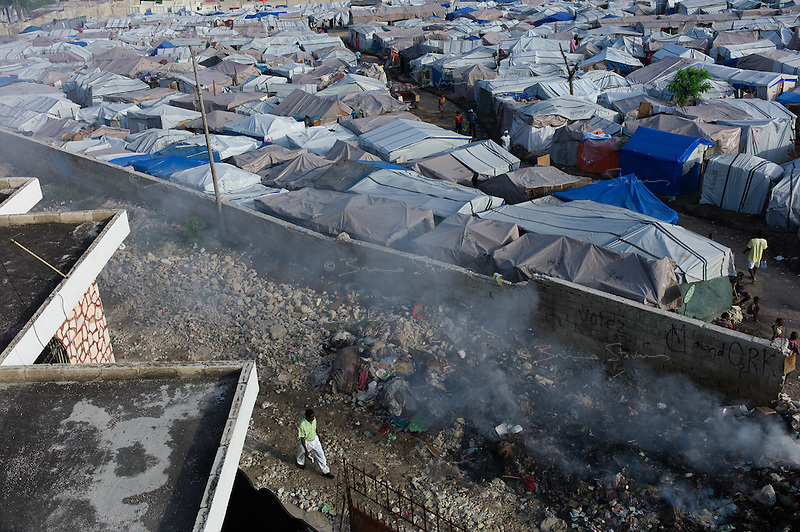 Port au Prince, Haiti, April 18, 2010.The 'Automeca' IDP camp is one of many in and around Port au Prince. Over a million people are living in such camps 3 months after the earthquake.