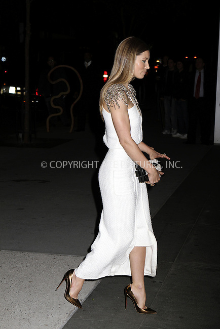 WWW.ACEPIXS.COM<br /> <br /> <br /> November 11, 2013, New York City, New York<br /> <br /> <br /> Jessica Biel arriving at the Museum of Modern Art 2013 Film benefit, A Tribute To Tilda Swinton, on November 5, 2013 in New York City, New York.<br /> <br /> <br /> <br /> By Line: Nancy Rivera/ACE Pictures<br /> <br /> ACE Pictures, Inc<br /> Tel: 646 769 0430<br /> Email: info@acepixs.com