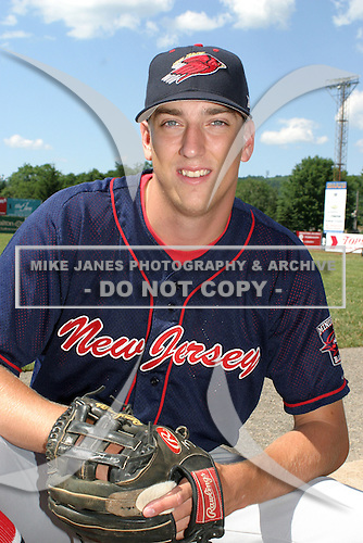 July 13, 2003:  Mark Michael of the New Jersey Cardinals during a game at Russell Diethrick Park in Jamestown, New York.  Photo by:  Mike Janes/Four Seam Images