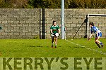 Hannah O'Donoghue in possession against Waterford in the LGFA National football league in Strand Road on Saturday.
