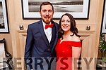 Brian Farrell and Linda Galvin attending the Scoil Eoin Valentine's Ball Fundraiser in the Ballygarry House Hotel on Friday night.
