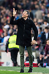 Coach Luis Enrique Martinez Garcia of FC Barcelona gestures during their Copa del Rey 2016-17 Semi-final match between FC Barcelona and Atletico de Madrid at the Camp Nou on 07 February 2017 in Barcelona, Spain. Photo by Diego Gonzalez Souto / Power Sport Images