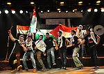 Egyptians and Palestinians gather in celebration To support the third intifada in El- Sawi Hall in Cairo, on May 7, 2011. Photo by Ahmed Asad