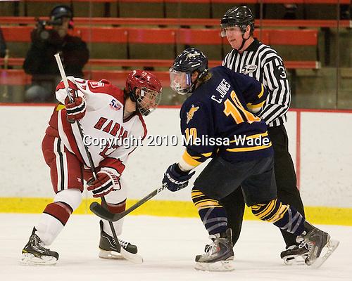 Rence Coassin (Harvard - 17), Connor Jones (Quinnipiac - 10) - The visiting Quinnipiac University Bobcats defeated the Harvard University Crimson 3-1 on Wednesday, December 8, 2010, at Bright Hockey Center in Cambridge, Massachusetts.