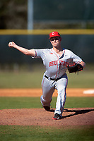 Ohio State Buckeyes relief pitcher Seth Kinker (37) delivers a pitch during a game against the Boston College Eagles on March 6, 2016 at North Charlotte Regional Park in Port Charlotte, Florida.  Boston College defeated Ohio State 6-2.  (Mike Janes/Four Seam Images)