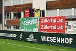 03.07.2019, Parkstadion, Zell am Ziller, AUT, TL Werder Bremen - Tag 00 Feature<br /> <br /> im Bild / picture shows <br /> <br /> Die Banner der Hauptspnosoren sind am Trainingsplatzn<br /> <br /> #hhakebeck<br /> #volkswagenn<br /> #wiesenhof<br /> #wohninvest<br /> #umbro<br /> Foto © nordphoto / Kokenge