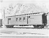 RPO &amp; baggage car #54 at Durango.<br /> D&amp;RGW  Durango, CO
