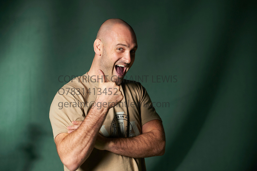 Ed Stafford , the first man to walk the whole length of The Amazon at The Edinburgh International Book Festival 2011.  Credit Geraint Lewis
