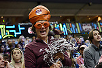 DALLAS, TX - APRIL 2: Mississippi State fans cheer while South Carolina takes on Mississippi State during the 2017 Women's Final Four at American Airlines Center on April 2, 2017 in Dallas, Texas. (Photo by Evert Nelson/NCAA Photos via Getty Images)