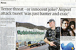 The Guardian.25th September 2010.Armed Police officer Robin Hood Airport