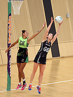 29.10.2015 Silver Ferns Bailey Mes in action during the Silver Ferns training ahead of the final test match against the Australian Diamonds in Perth Australia. Mandatory Photo Credit ©Michael Bradley.